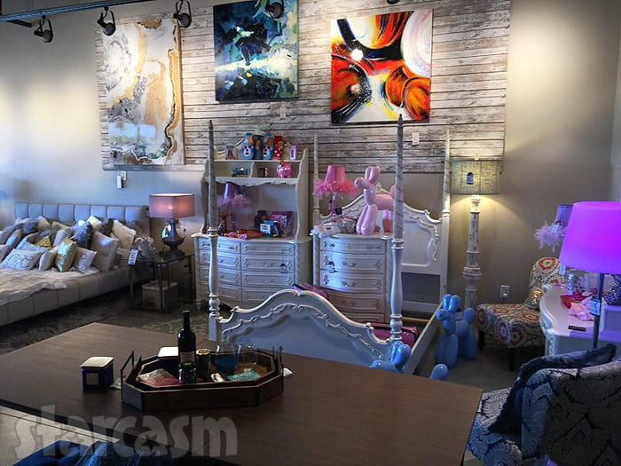 Farrah Abraham furniture store photo bed