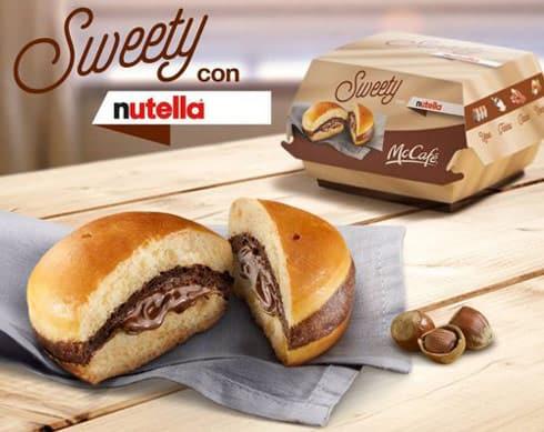 Italian McDonalds Nutella burger