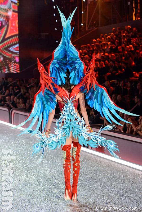 Kendall Jenner Victoria's Secret Fashion Show wings back view