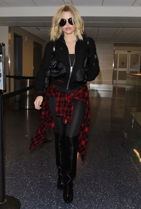 Khloe Kardashian spotted departing from LAX
