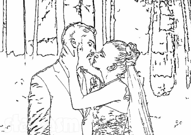 Maci Bookout wedding coloring book outlines