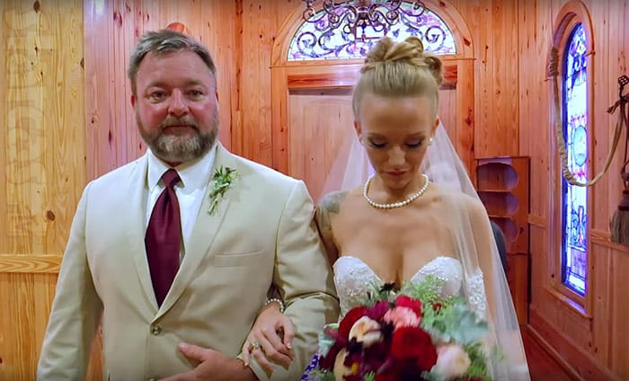 Maci Bookout's dad at her wedding