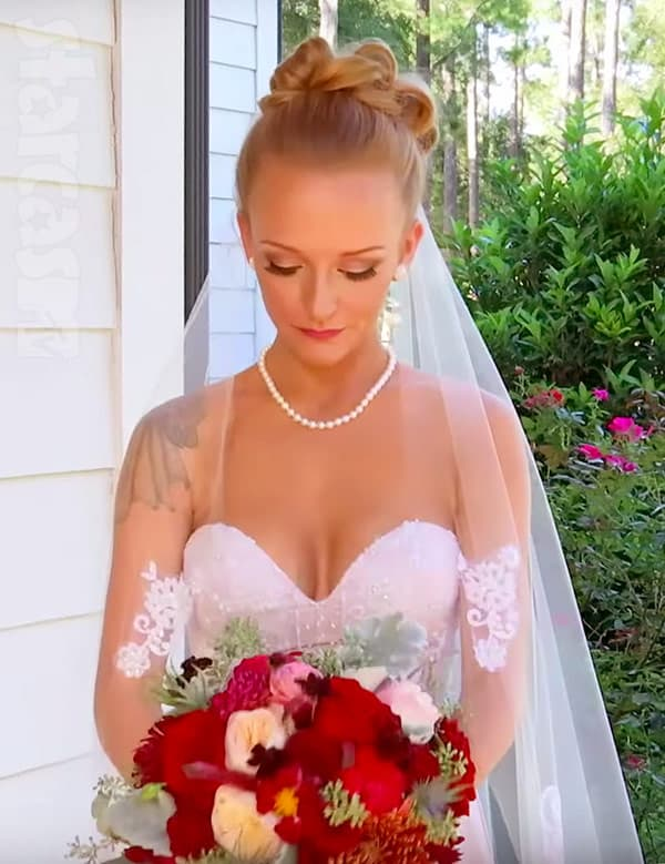 Maci Bookout wedding dress and flowers