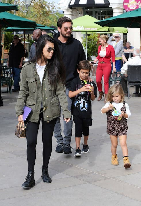 Kourtney Kardashian and Scott Disick take the kids for frozen yogurt with Kris Jenner and Corey Gamble