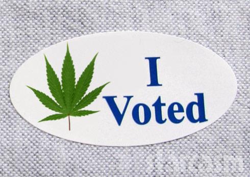I voted sticker legal marijuana