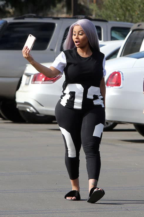 Blac Chyna is spotted out and about for the first time since giving birth to her daughter Dream with Rob Kardashian in Los Angeles, California.