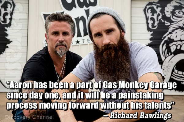Why did Aaron Kaufman leave Fast N Loud and Gas Monkey Garage?