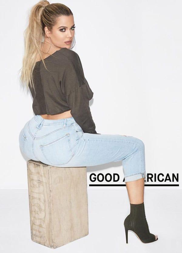 Khloe Kardashian booty Good American jeans_