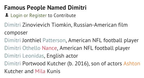 NameBerry Dimitri