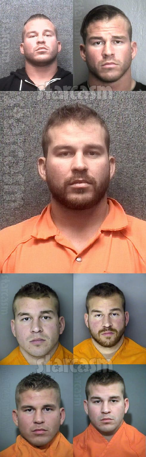 All of Nathan Griffith mug shot photos from his arrests