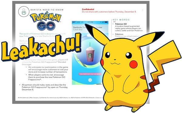 Pokemon Go Generation 2 Starbucks leak