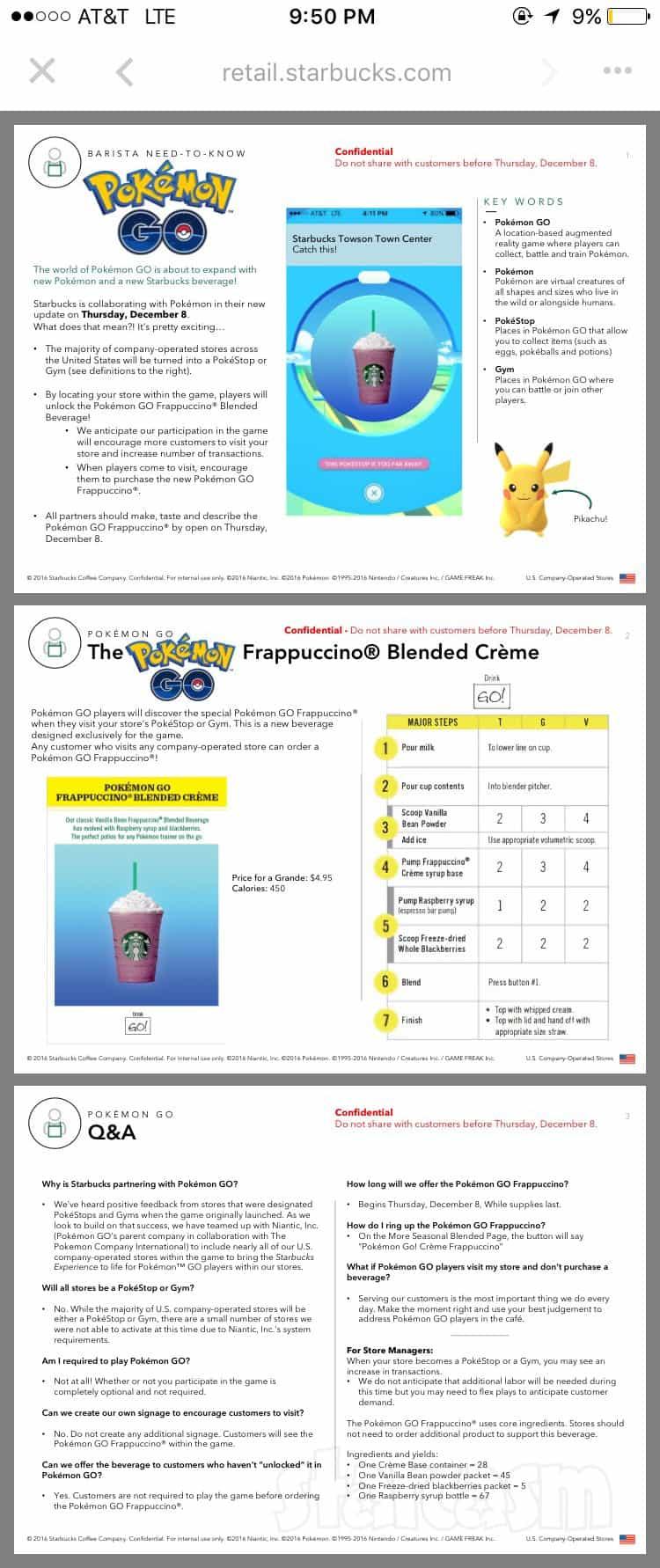 Pokemon Go Generation 2 Starbucks promotion