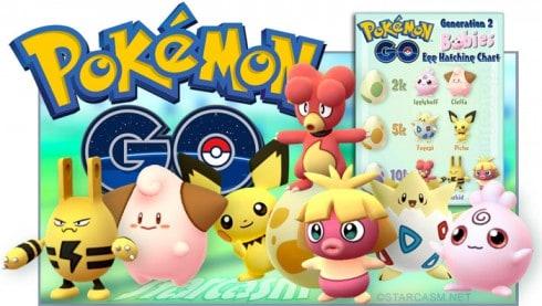 Pokemon Go babies Generation 2