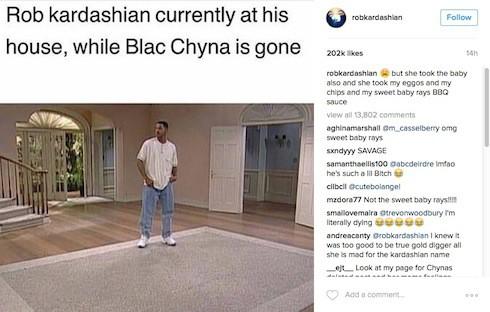 Rob & Chyna publicity stunt breakup 2