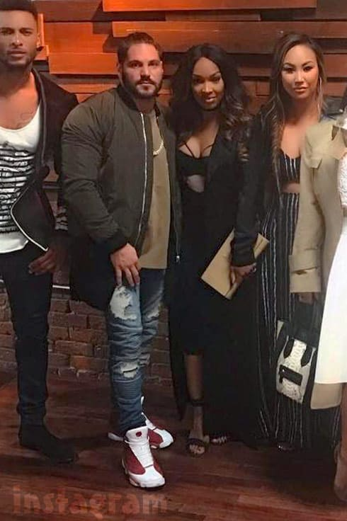 Ronnie Magro and Malika Haqq together
