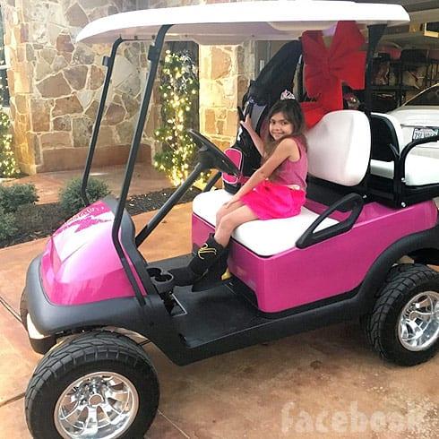 Sophia Abraham golf cart