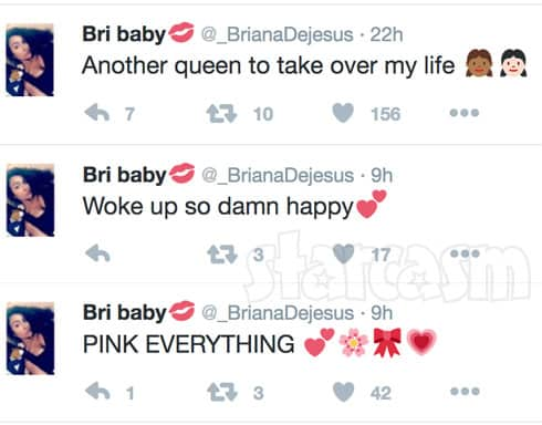 Briana DeJesus gender reveal tweets