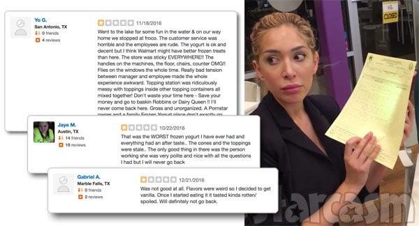 Farrah Abraham Froco Yelp reviews