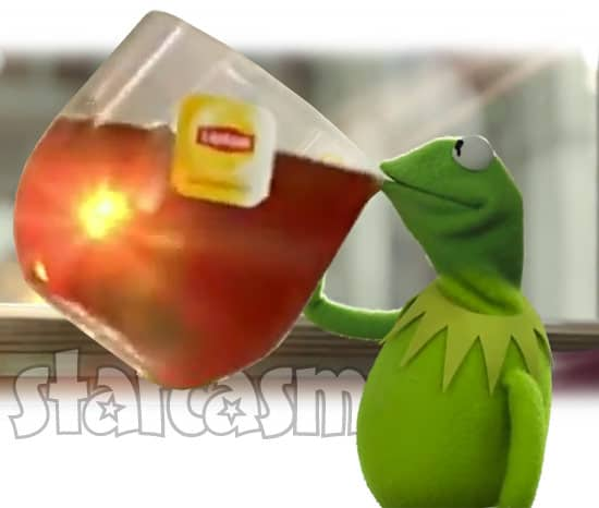 Kermit sipping A LOT of tea