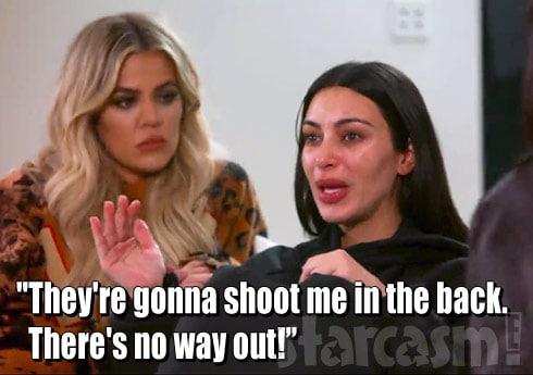 Kim Kardashian crying recalling Paris robbery