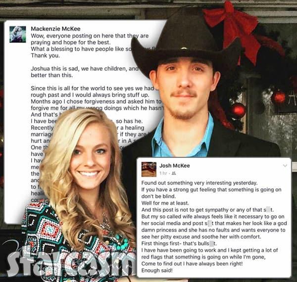 Mackenzie McKee husband osh McKee Facebook feud