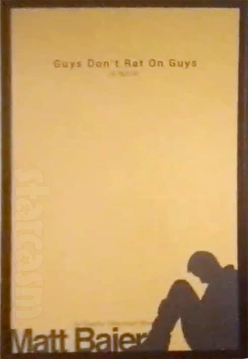 Matt Baier book Guys Dont Rat On Guys originally published under the name Grey Baker