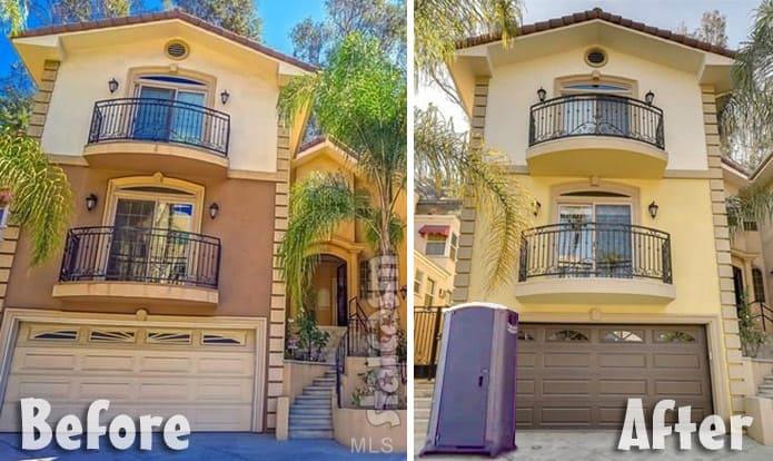 Farrah Abraham Hollywood flipper house porta potty