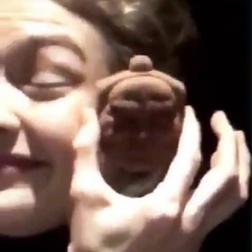 Gigi Hadid Asian face mocking Buddha