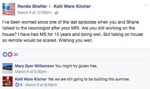 Kelli Kilcher illness update 4