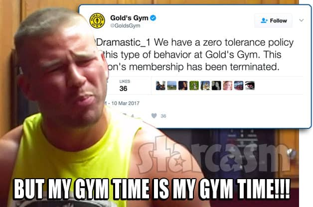 Nathan Griffith Gold's Gym membership revoked
