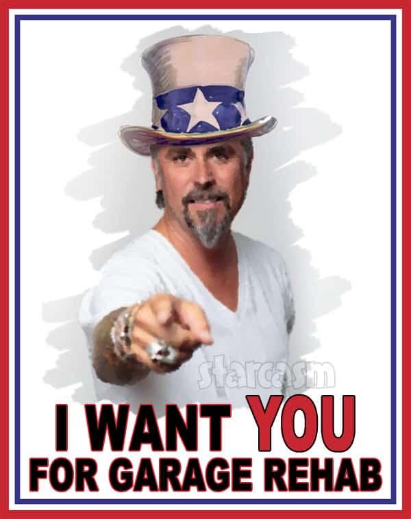 Richard Rawlings Garage Rehab Uncle Sam I Want You poster