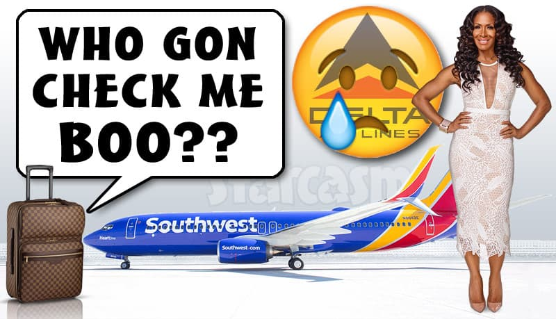 Sheree Whitfield Southwest Airlines tweet check me boo