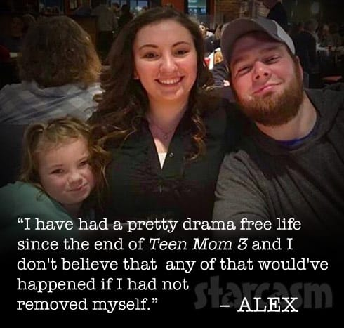 Alex Sekella Teen Mom 2 quote