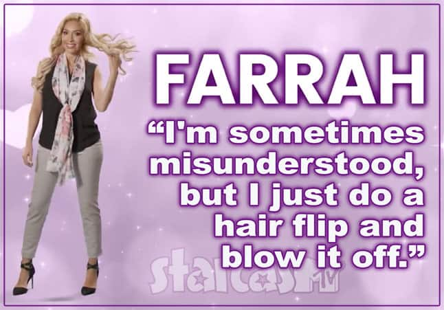 Farrah Abraham Real Housewives tagline