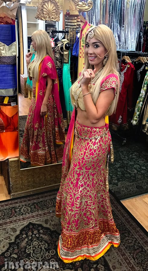 Farrah Abraham Indian dress