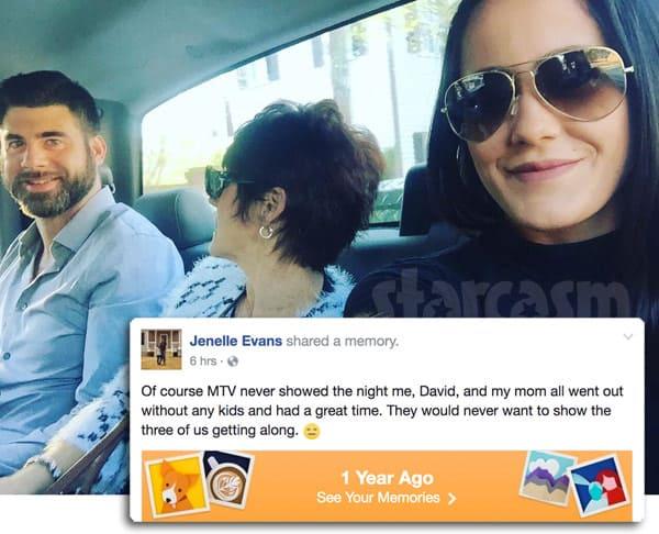 Jenelle Evans Barbara David Eason Uber dinner date
