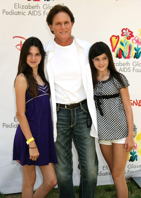 Kendall Jenner, Bruce Jenner and Kylie Jenner