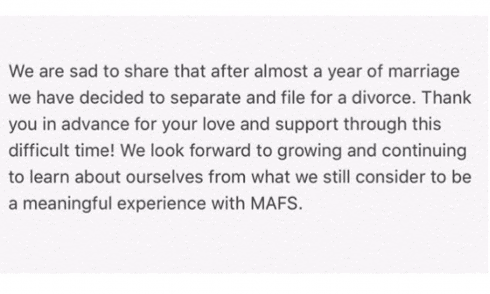 Nick and Sonia from MAFS got divorced