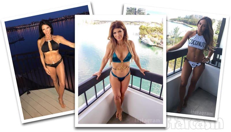 RHONJ Danielle Melissa Teresa balcony bikini photos