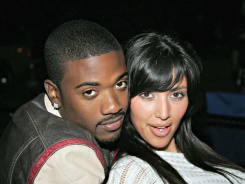 Ray J and Kim Kardashian
