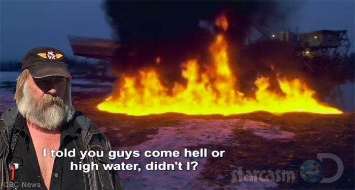 Tony Beets dredge pond fire scene Viking Baptism
