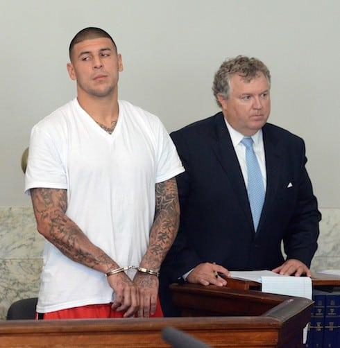 Aaron Hernandez is arraigned in Attleboro District Court, Wednesday, June 26, 2013