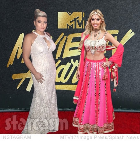 Farrah Abraham Amber Portwood 2017 MTV Movie and TV Awards red carpet