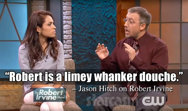 Jason Hitch calls Robert Irvine a Limey whacker douche