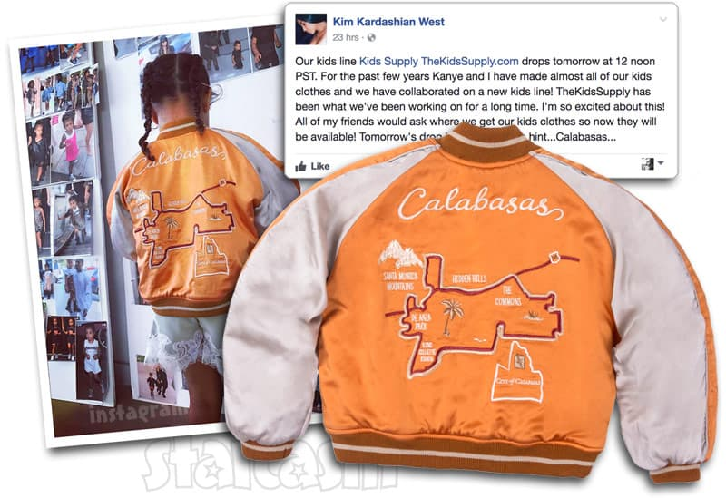 33d45cc09 Kim Kardashian Kanye West launch The Kids Supply children s clothing line