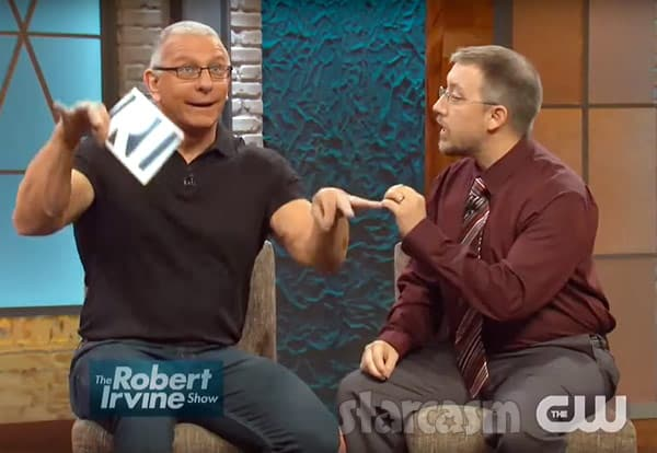 Robert Irvine as a puppet with  Jason Hitch
