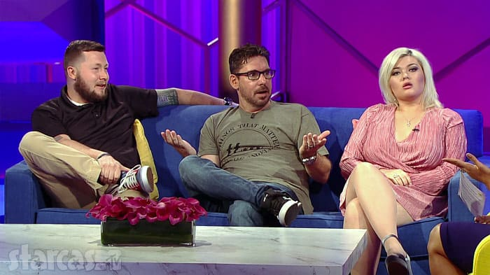Shawn Portwood Matt Baier Amber Portwood together on the couch at the Teen Mom OG After Show