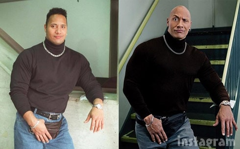 794653cfec19c The Rock uses throwback fanny pack pic to share inspirational ...