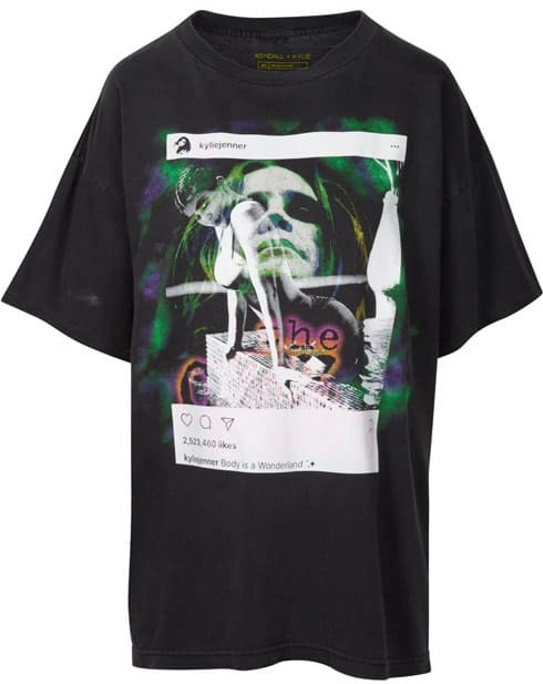 Kendall and Kylie t shirt with Ozzy Osbourne