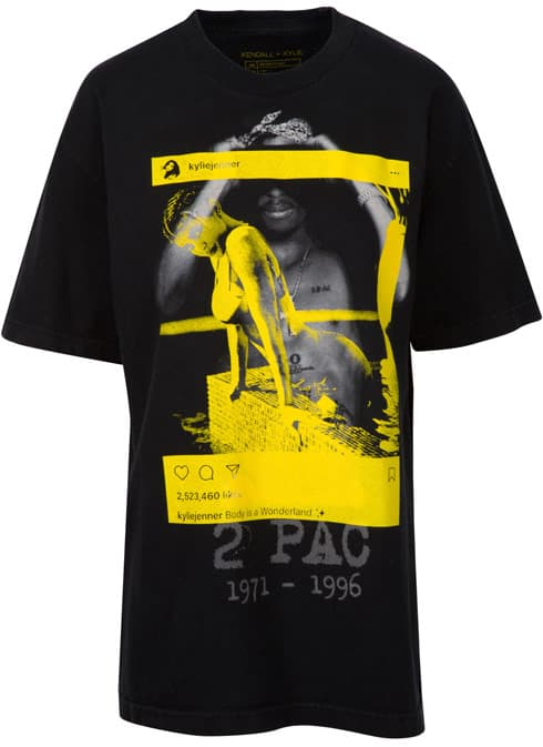 Kendall and Kylie Tupac tee shirt